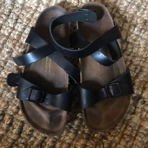 Black lace up the ankle Birkenstock's